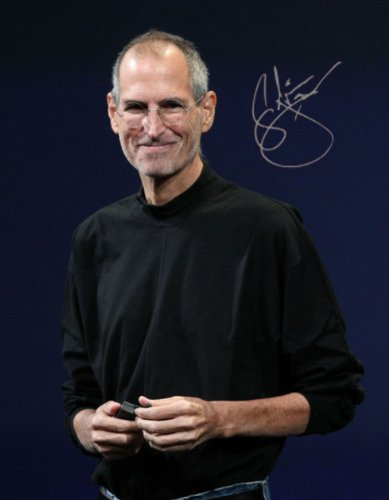 STEVE JOBS 8x10 reprint signed photo #2 Apple