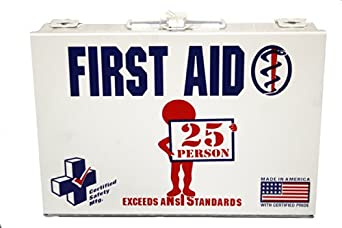 First Voice ANSI-25M 25 Person ANSI Compliant First Aid Kit with Metal Case