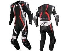 コミネ:S-42 スポーツライディングメッシュスーツ フォルゴレ(ブラック/レッド)(サイズ:Lサイズ)