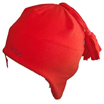 Fila Beanie Hat, Ear Flaps, CoolQuik, Red - Size Medium