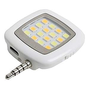 SUPER DEAL BAZZAR STORE Selfie Flash Light, White, 3.5mm Pin Jack, 16 LED
