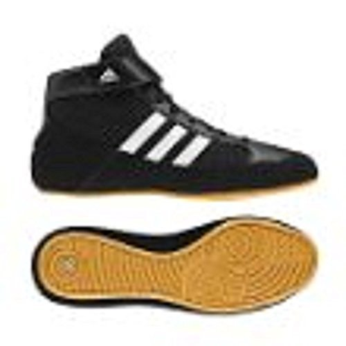 Adidas Wrestling HVC Youth Laced Wrestling Shoe (Toddler/Little Kid/Big Kid),Black/White/Gum,2.5 M US Little Kid (High Top Adidas For Boys compare prices)