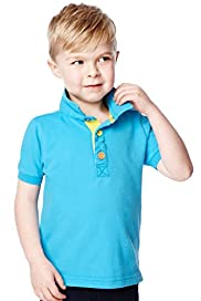 Pure Cotton Short Sleeve Fluro Polo Shirt