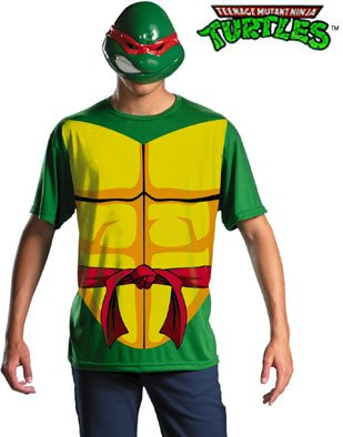 Adult Marvel TMNT Raphael T-Shirt & Mask Costume
