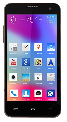 Alco 3G CDMA + GSM & GSM + GSM 4.5 inch 3G Android Mobile Phone in Brown Colour