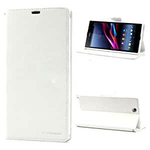 MACC Fancy Diary Case Flip Cover for HTC BUTTERFLY S - White & White
