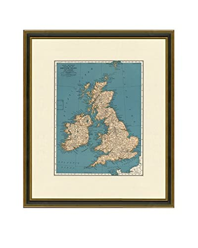 Antique Map of the British Isles, 1937