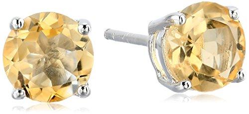 Sterling-Silver-7-mm-Gemstone-Round-Stud-Earrings