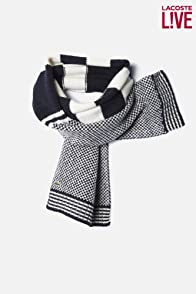 Men's L!VE Merino Wool Patterned Knit Scarf