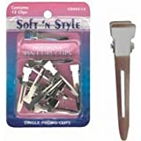 Soft 'N Style Pack Of 12 Single Prong Pin Curl Hair Clips By