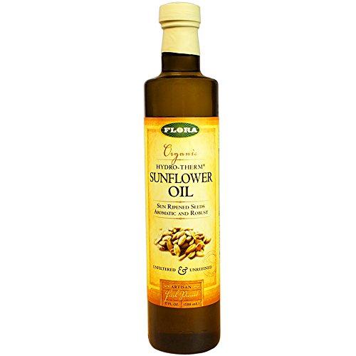 Flora Sunflower Oil Certified Organic 17-Ounces Glass