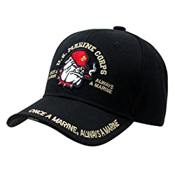 RAPID DOMINANCE The Legend, Military Branch Caps (Adjustable , Bulldog Black)