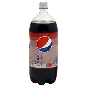 Pepsi Soda, Diet, Wild Cherry, 2 Liter, ( Pack of 4)