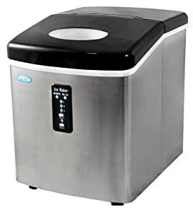 Air AI-100SS 28-Pound Portable Ice Maker, Stainless Steel from NewAir