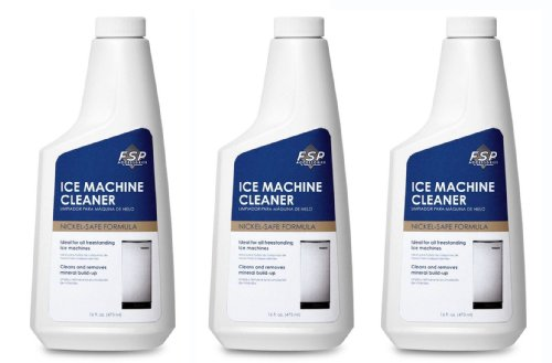 Professional Commercial Grade Ice Machine Scale Cleaner Remover By Whirlpool - Cleans and Removes Mineral Build up (3 Pack) (Ice Maker Cleaner compare prices)
