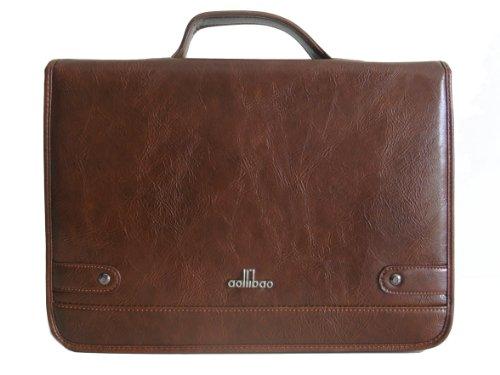 Men's Messenger Bag in BROWN (AB B236-5) Stiff Flap/Semi Stiff Body Cross Body Shoulder Bag Briefcase Office Bag