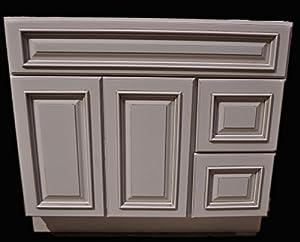 heritage ivory white oldtown bathroom vanity two drawers cabinet