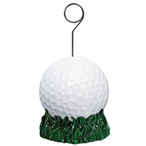 Golf Ball Photo/Balloon Holder Party Accessory (1 count)