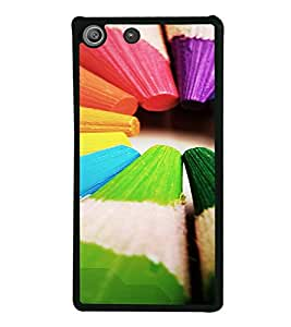 PrintVisa SONM5-Colorful Pencil Design Metal Back Cover for Sony Xperia M5 Dual E5633 E5643 E5663, Sony Xperia M5 E5603 E5606 E5653