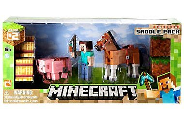 Minecraft Figure Set Overworld Saddle Pack by Jazwares Toys