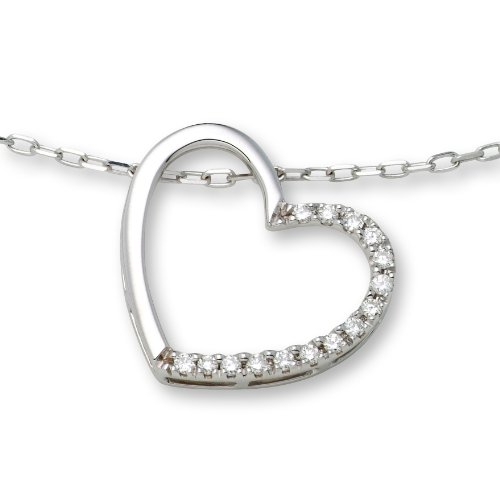 0.1 Carat SI Diamond Pendant Necklace in 9ct