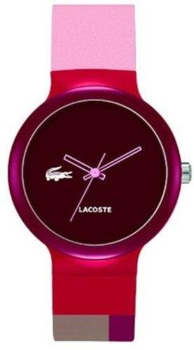Lacoste GOA Brown Dial Pink and Red Silicone Unisex Watch 2020038