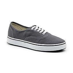 Keuka SureGrip Unisex - Adult Shock Gray Athletic Slip Resistant Work Shoes 11.5M