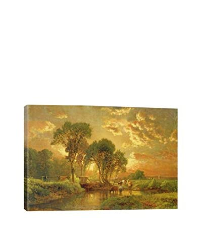 George Snr Inness Medfield, Massachusetts Gallery-Wrapped Canvas Print