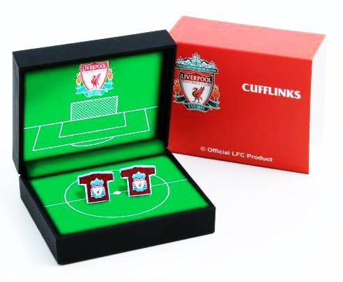 OFFICIAL LIVERPOOL FC FOOTBALL SHIRT KIT CUFFLINKS IN GIFT BOX