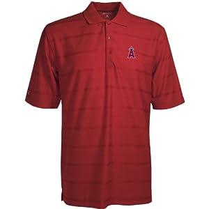 Los Angeles Angels Polo - MLB Antigua Mens Tone Dark Red by Antigua