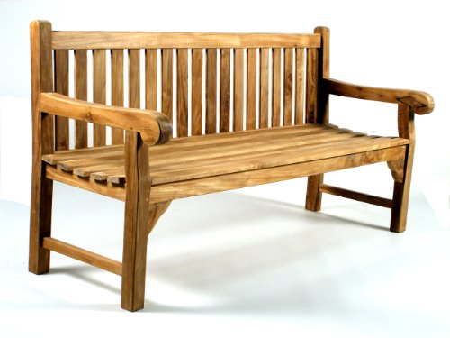 Queensbury Grade 'A' Teak Garden 6ft / 180cm 4 Seater Bench Heavy Duty