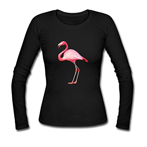 larger-pink-flamingo-bird-custom-gildan-long-sleeve-shirts-ladies-black-m