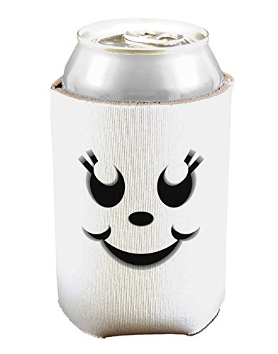 Cute Girl Jack O Lantern Pumpkin Face Can And Bottle Insulator Cooler - White