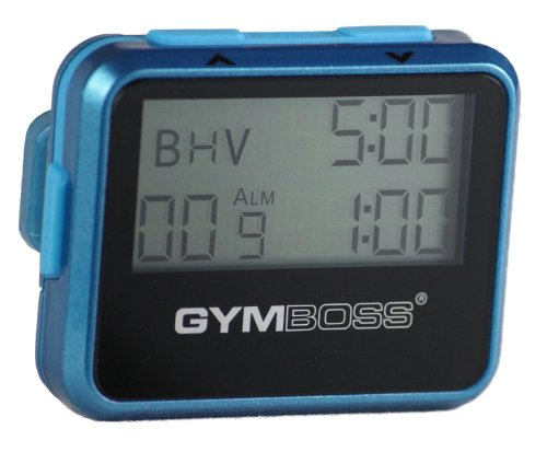 Gymboss Interval Timer and Stopwatch - TEAL / BLUE METALLIC GLOSS (Jeff Galloway Interval Timer compare prices)