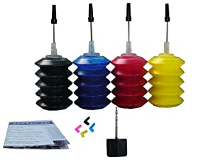ND Brand Dinsink: 4X30ML Pigment Refill ink kit for HP HP 932 932xl Black and HP 933 933XL Color Ink Cartridge CN053AN for HP OfficeJet Pro 6100 6600 6700 Printer. The item with ND Logo!