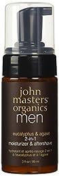 John Masters Organics Eucalyptus & Agave 2-in-1 Moisturizer & Aftershave 3 fl oz / 89 ml