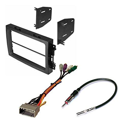 DODGE CHRYSLER JEEP 2005- 2008 ( SELECT MODELS ) AFTEMARKET CAR STEREO INSTALL KIT DASH MOUNTING KIT + STEREO WIRE HARNESS + RADIO ANTENNA ADPATER (Dodge Ram Infinity Harness compare prices)