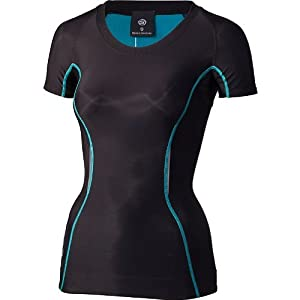 Skins A200 Women's Short Sleeve Compression Running T-Shirt - X Small