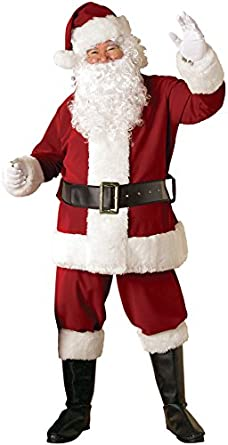 Rubie's Costume Crimson Regal Santa Suit With Gloves, Red/White, X-Large