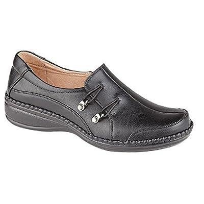 Boulevard Womens/Ladies Elasticated Loop Trim Casual Shoes