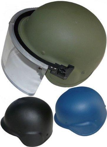 防弾 ケブラーヘルメット 防弾ガラス付 NIJ レベルIIIA