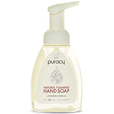 Puracy Natural Liquid Hand Soap - Sulfate-Free - THE BEST Hand Wash - Lavender & Vanilla - Developed by Doctors - All Ages & Skin Types - Clinical-Grade Sea Salt, Vitamin E, Aloe Vera