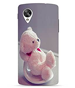 Snazzy Teddy Bear Printed Pink Hard Back Cover For LG Google Nexus 5