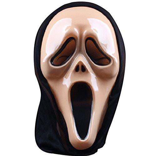 [Halloween Mask Horrifying Mask Full-face Devil Screamed Skeletons Mask Death Mask (Screaming-light] (Yugioh Halloween Costumes)