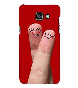 Smiley Finger Art 3D Hard Polycarbonate Designer Back Case Cover for Samsung Galaxy A3 (2016) :: Samsung Galaxy A3 2016 Duos :: Samsung Galaxy A3 2016 A310F A310M A310Y :: Samsung Galaxy A3 A310 2016 Edition