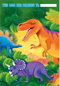 Prehistoric Dinosaurs Treat Bags, 8ct