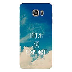 Back Cover for Samsung Galaxy S7 Edge ABSTRACT BLUE