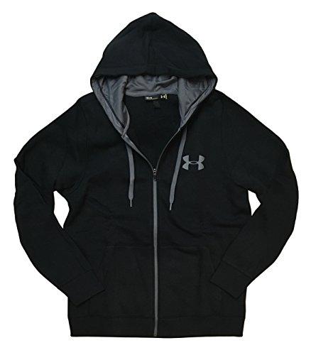 UA Rival Fleece Full Zip Hoodie (Large, Black)
