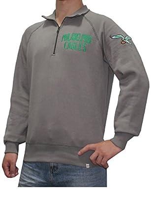 NFL Mens PHILADELPHIA EAGLES: Athletic 1/4 Zip Pullover Sweatshirt