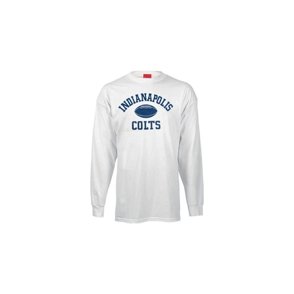 Indianapolis Colts Real Authentic White Long Sleeve T Shirt on PopScreen 4d295845c